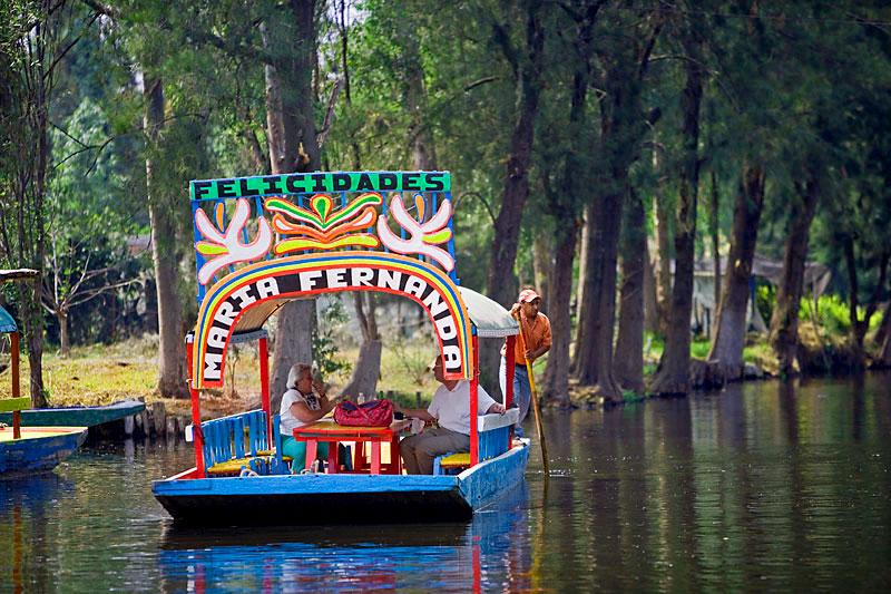 Canals-of-Xochimilco,-Mexico